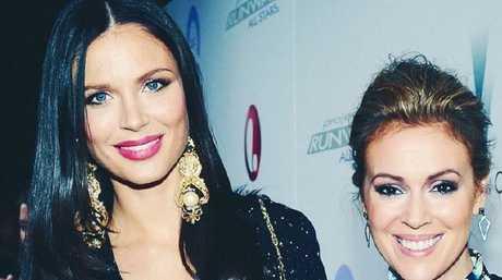 Alyssa Milano, right, and good friend Georgina Chapman, Harvey Weinstein's wife. Picture: Instagram