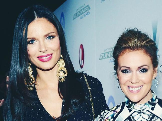 Alyssa Milano, right, and good friend Georgina Chapman, Harvey Weinstein's wife. Picture: Instagram