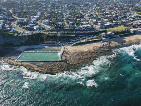 Merewether Baths and Merewether Beach, Newcastle. Picture: Ethan Rohloff/Destination NSW