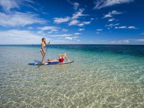 The clearest of waters at Coral Bay. Picture: David Kirkland/Coral Coast