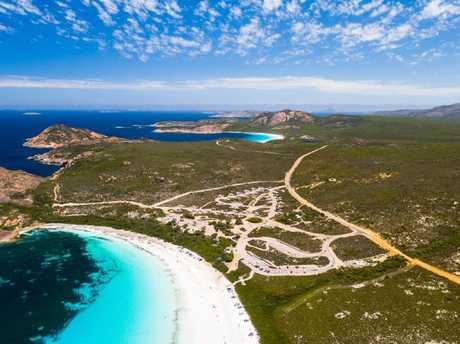 The stunning Lucky Bay near Esperance. Picture: Tourism Western Australia