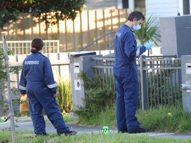 Police search for clues. Picture: David Crosling