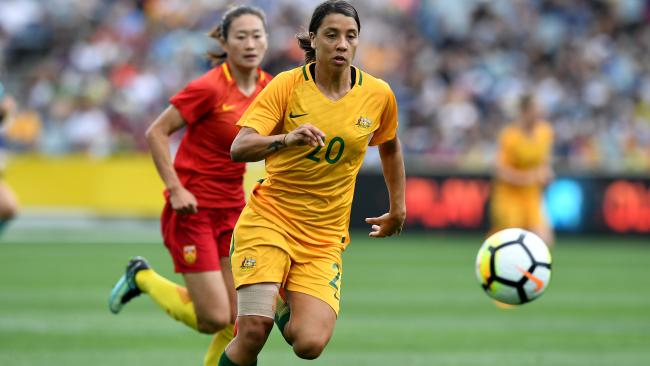Sam Kerr will be an integral part of the Matildas' push for the Asian Cup crown.