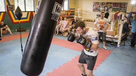 Jeff Horn during a final training session ahead of his fight with Gary Corcoran.