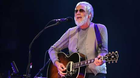 Cat Stevens now known as Yusuf Islam in concert at Rod Laver Arena, Melbourne Australia. Picture: Ian Currie