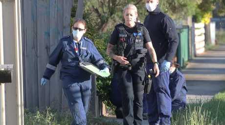 Police investigate the death. Picture: David Crosling