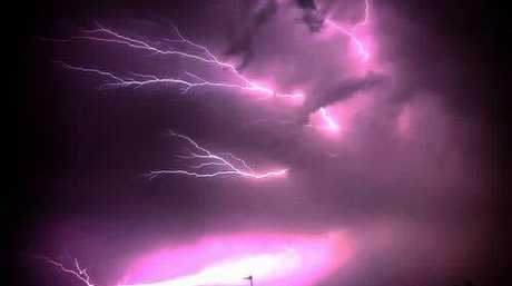 Chad Grobler took this amazing lightning photo over Currimundi. Source: Higgins Storm Chasing Facebook site.