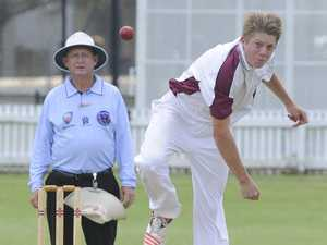 Nambucca seamer Dom Beaumont has his game face on