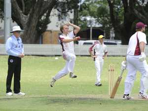 Nambucca's Luka Grace bounds into the wicket during