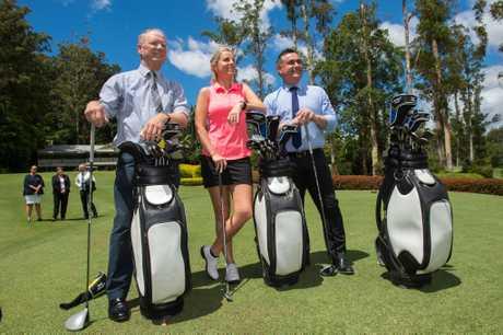 Emma de Groot, Member for Coffs Harbour Andrew Fraser and Deputy Premier John Barilaro announced the new Bonville women's tournament in February.