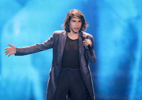 Isaiah Firebrace from Australia performs the song