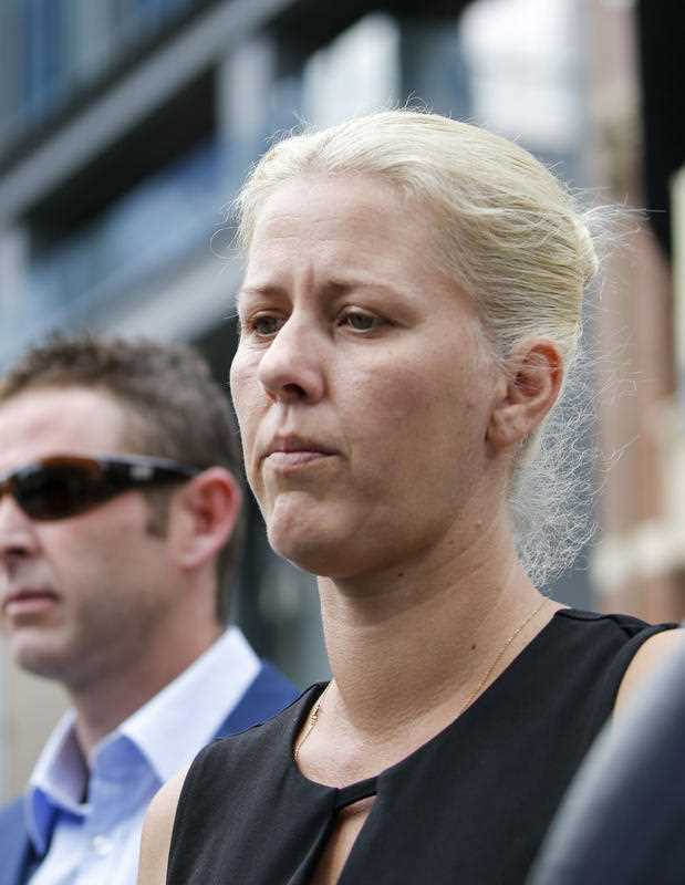 Heidi Strbak arrives at the Supreme Court in Brisbane, Thursday, November 16, 2017. Ms Strbak is attending a contested sentence hearing for the manslaughter of her four-year-old son Tyrell Cobb on May 24, 2009.