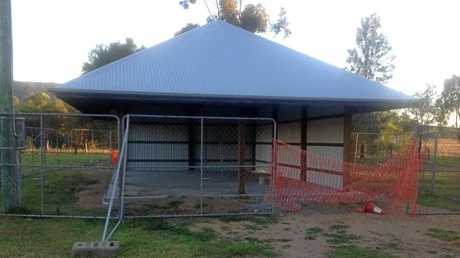 The Swanfels shelter is almost complete.