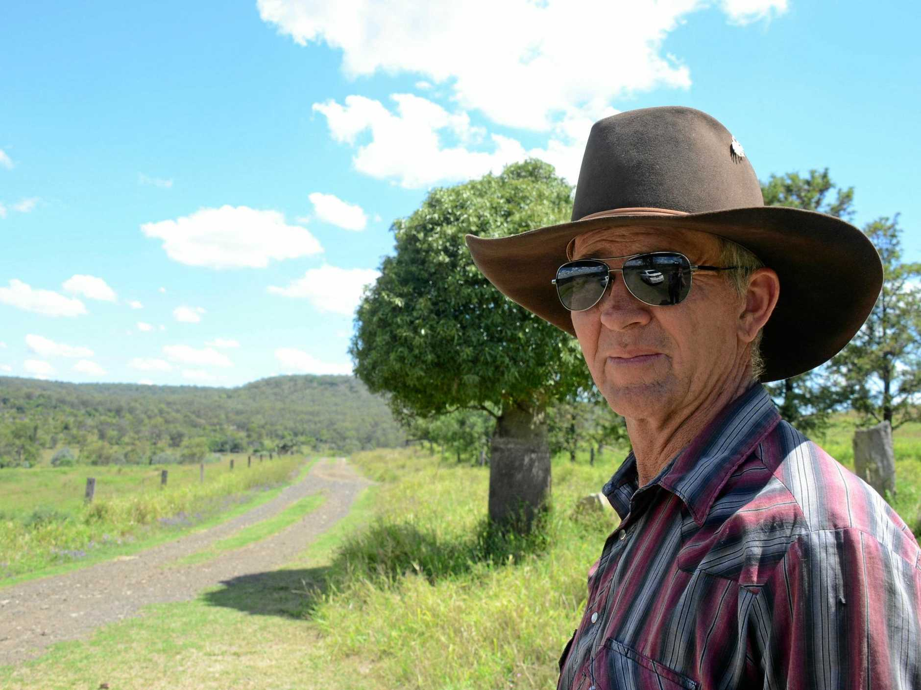 Ian Schafferius is happy to see the Cooper's Gap Wind Farm go ahead after a decade and a half gihting for it.