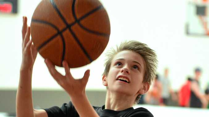 LEGEND:  Cal Bruton hosted a basketball training clinic at Buderim. Pictured is Jaiden James.