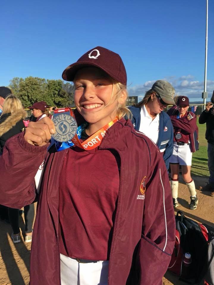 Leah Bertram - silver in softball