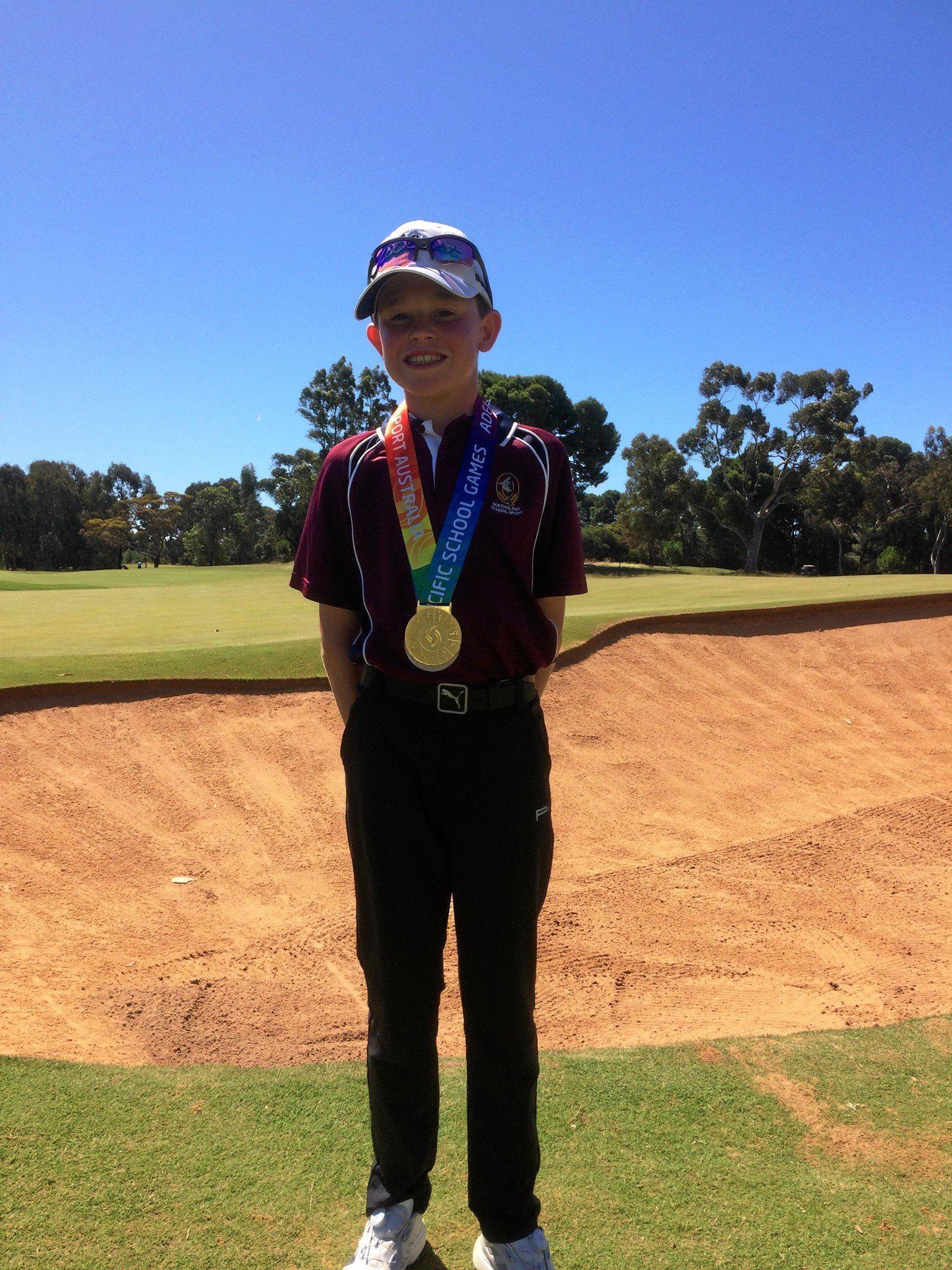Declan Corke - gold in golf