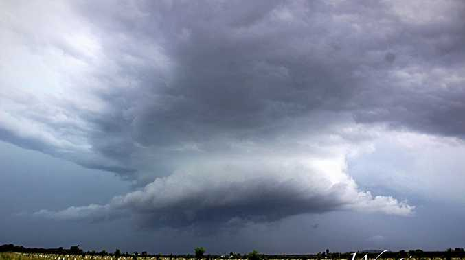 PHOTO OF THE DAY: This is the storm that peppered the Grafton region with large hailstones on Saturday afternoon.