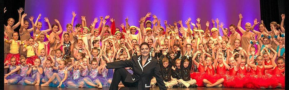 La Danza (L.A.D.) Studio director and choreographer Desiree McGann with her students at their annual concert.