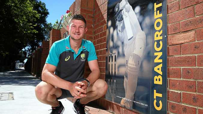 RISING STAR: Cameron Bancroft poses after being added into the WACA ground's Test Player Walk.