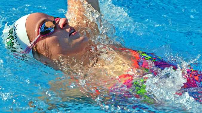 STAR: Kaylee McKeown claimed an Australian record at the Queensland Championships.
