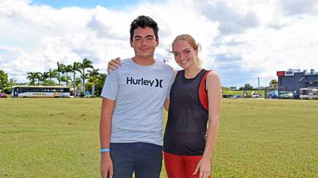 Blake McCann with his school friend and inspiration Josephine Desgrand who lost 60kg in 12 months.