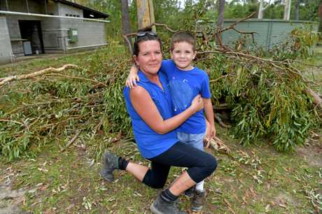 Rocky Creek Scout Camp's Rachel Thomson and son Tyler, 6.