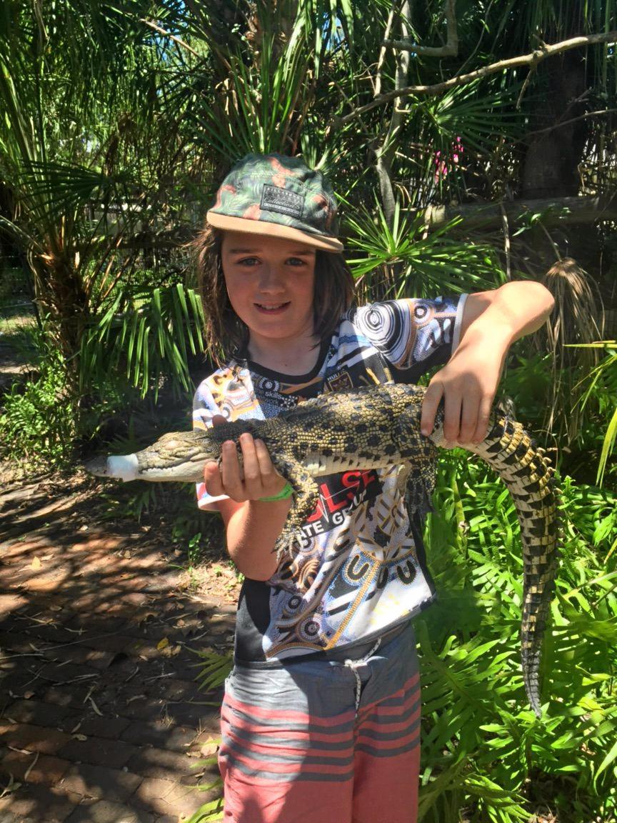 This is Dash Charleston at the Koorana Crocodile Farm