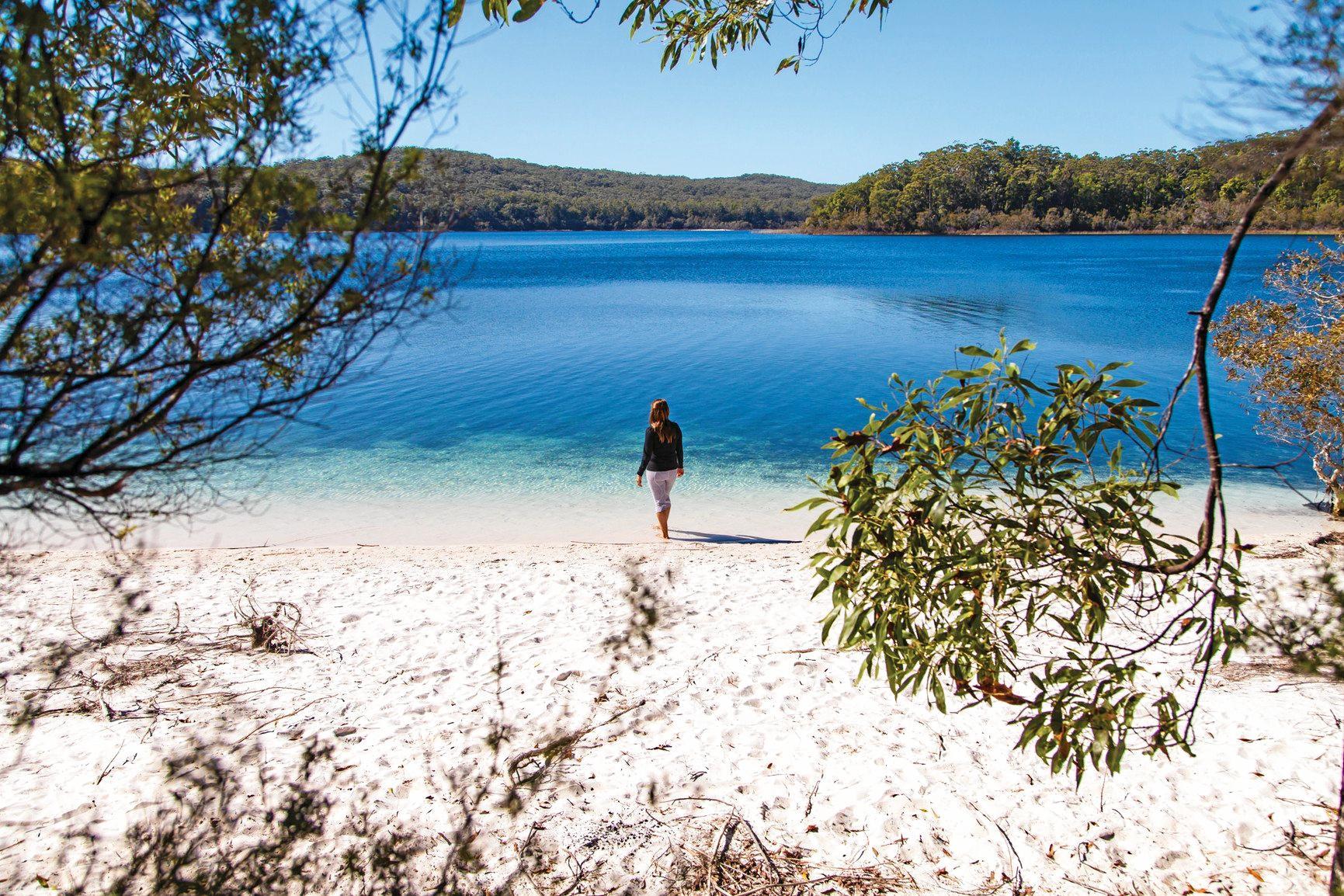 Lake Mackenzie at Fraser Island.