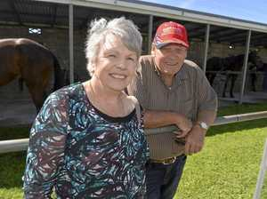 TOP PERFORMER: Richard March, with wife Mavis, was a star at Saturday's harness meeting.