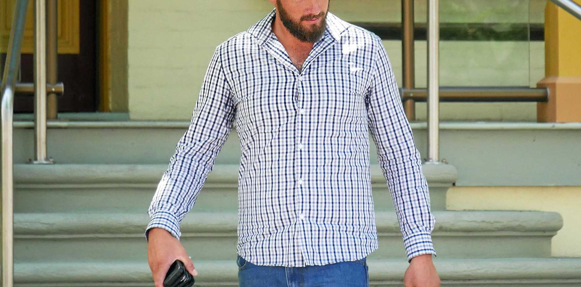 PLEADED GUILTY: Casey Paul Baumgart, 25, of Maryborough, leaves Maryborough District Court.