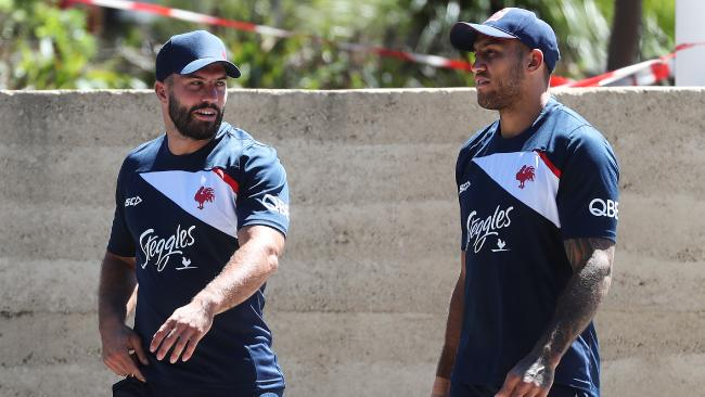 James Tedesco steps out for his first day on the job at the Sydney Roosters.