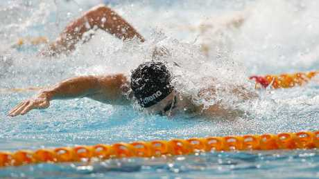 James Magnussen powers down the pool.