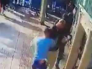 Sickening stabbing caught on camera