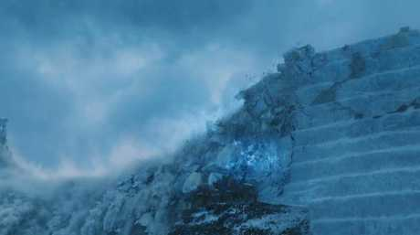 The Undead dragon Viserion demolished it in the season 7 finale.