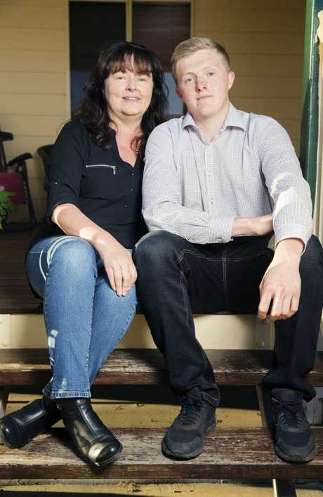 "Ice addict Justin Light, pictured with his mum Evelyn, has a strong message for anyone daring to try the drug: ""Don't even go near it, it will grab hold of you, it will kill you, I'm one of the lucky ones."" Picture: Lachie Millard"