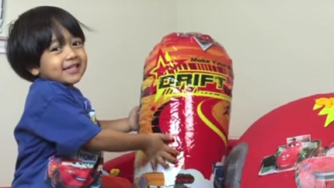 Ryan from Ryan ToysReview is a YouTube star. Picture: YouTube