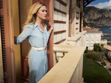 Julia Stiles stars as Georgina Clios in TV series Riviera. Source: SBS.