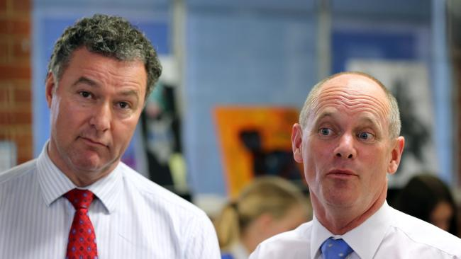 Had the 2010-11 floods not occurred, Langbroek, (above left, with Campbell Newman in 2014) would have won the 2012 election with a modest majority, and may still have been premier today.