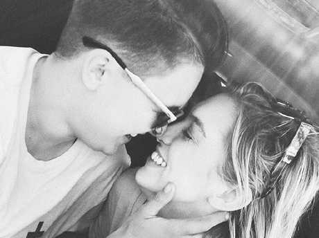 Alex Nation and girlfriend Maegan Luxa. Nation's Instagram post