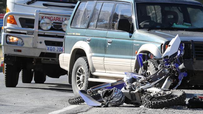 The scene of the fatal crash at Kangarilla.
