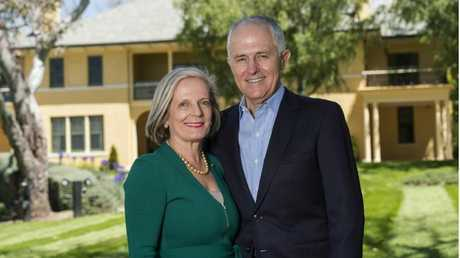 Malcolm and Lucy Turnbull ... partners in love and business. Picture: Supplied