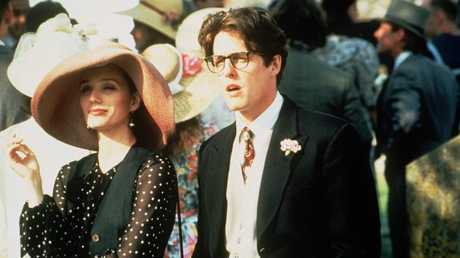 Kristin Scott Thomas and Hugh Grant in Four Weddings And A Funeral