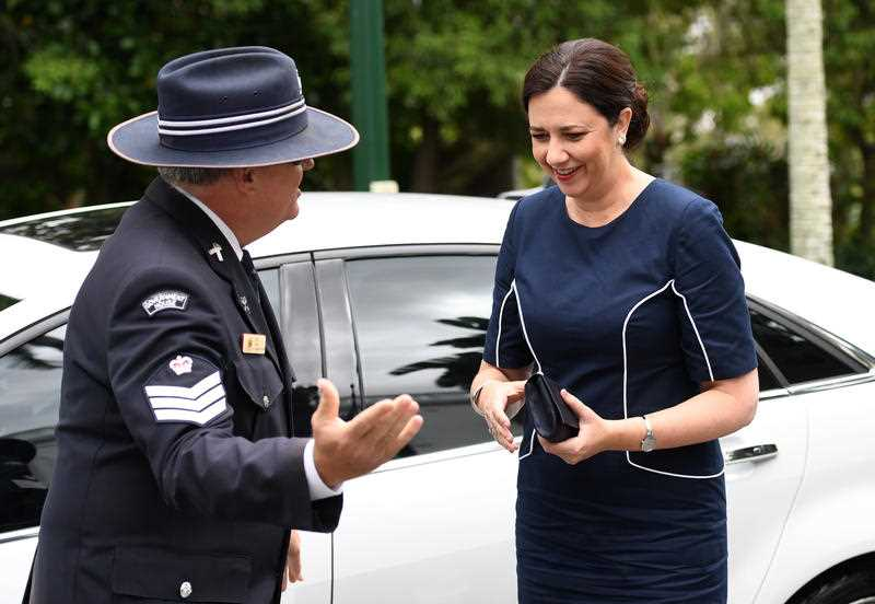 Queensland Premier Annastacia Palaszczuk arrives at Government House in Brisbane, Tuesday, December 12, 2017.  DAN PELED/ AAP