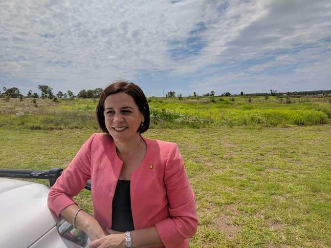 Deb Frecklington on the campaign trail.