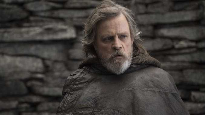 Mark Hamill in a scene from the movie Star Wars: The Last Jedi.