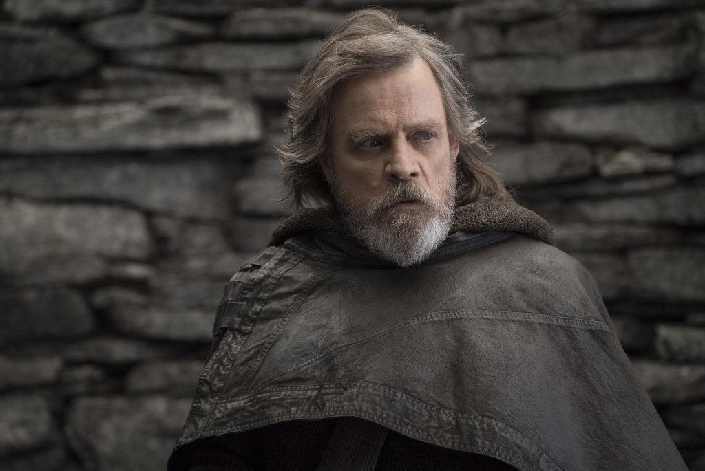 Mark Hamill in a scene from the movie Star Wars: The Last Jedi.