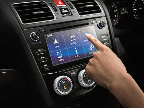 The Subaru Levorg touch-screen.