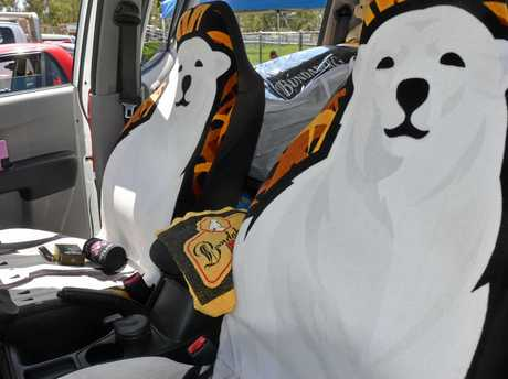 Even the seat covers are made by hand out of Bundaberg rum towels. Photo Emma Boughen / The Bush Telegraph