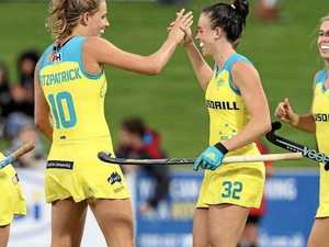 WORKING TOGETHER: Savannah  and Madison Fitzpatrick have both been named in the Hockeyroos 2018 National Senior Women's Squad.